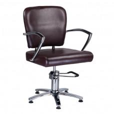 Fotel fryzjerski LIVIO Brązowy
