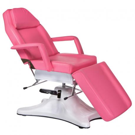 BD-8222 Hydrauliczny fotel kosmetyczny Różowy