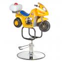 BW-604 Dziecięcy fotel fryzjerski Żółty