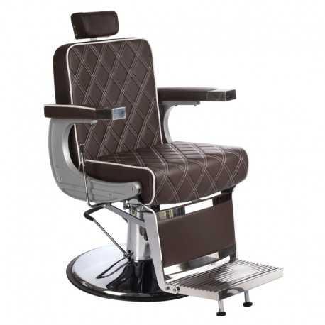 Fotel barberski LUMBER BH-31825 Brązowy LUX