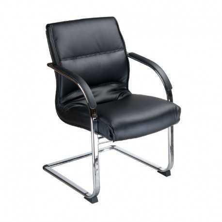 BX-3346 Krzesło konferencyjne / do poczekalni Czarne
