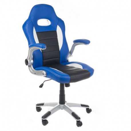 Fotel biurowy RACER CorpoComfort BX-6923 Niebieski