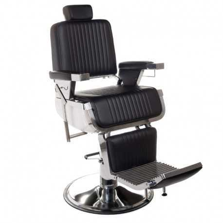 Fotel barberski LUMBER Czarny