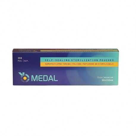 Torebki do sterylizacji 90mm x 260mm 200szt MEDAL