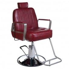 Fotel barberski HOMER Bordowy LUX