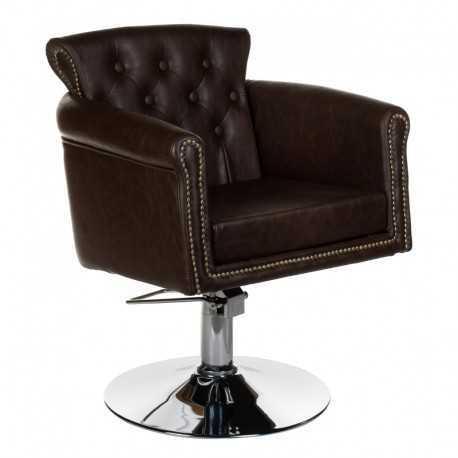 Fotel fryzjerski ALBERTO brązowy
