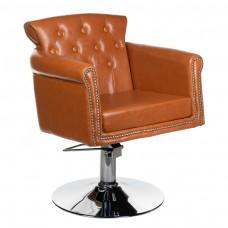 Fotel fryzjerski ALBERTO jasno brązowy