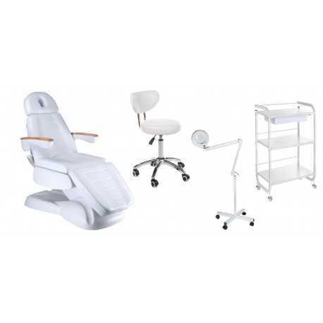 Fotel elektryczny BW-273B + Taboret BT-229 + Lampa BN-205 8dpi + Pomocnik ST027
