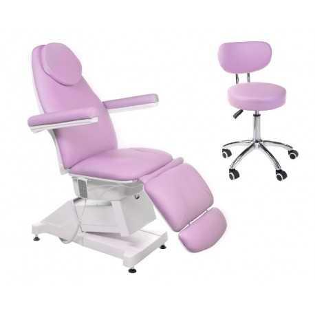 Fotel elektryczny Amalfi BT-158 + Taboret BT-229 / Róż