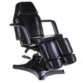 BD-8243 Hydrauliczny fotel kosmetyczny / pedicure CZARNY