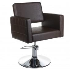 BM-6302 Fotel fryzjerski Ernesto Brązowy