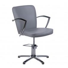 Fotel fryzjerski LIVIO jasno szary BH-8173