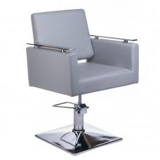 Fotel fryzjerski MILO BH-6333 jasno szary