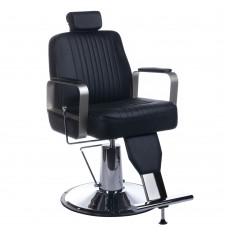 Fotel barberski HOMER Czarny LUX