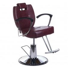 Fotel barberski HEKTOR BH-3208 Wiśniowy