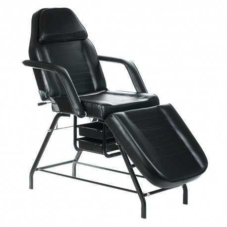 BW-262 Fotel kosmetyczny z kuwetami Czarny