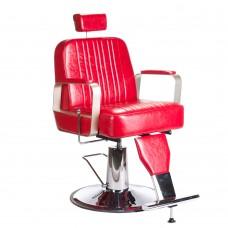 Fotel barberski HOMER Lux Czerwony