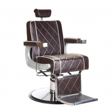 ODYS Fotel barberski Brązowy