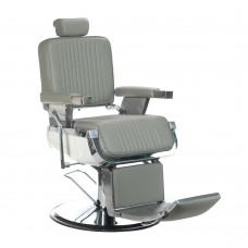 Fotel barberski LUMBER Jasny Szary